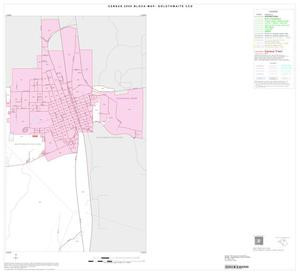 Primary view of object titled '2000 Census County Subdivison Block Map: Goldthwaite CCD, Texas, Inset A02'.