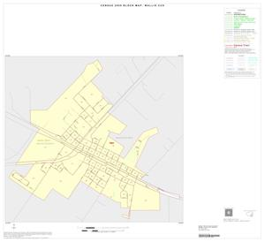 Primary view of object titled '2000 Census County Subdivison Block Map: Wallis CCD, Texas, Inset A01'.