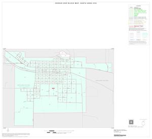 Primary view of object titled '2000 Census County Subdivison Block Map: Santa Anna CCD, Texas, Inset A01'.