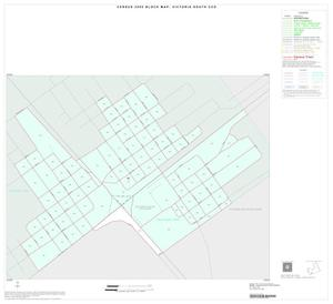 Primary view of object titled '2000 Census County Subdivison Block Map: Victoria South CCD, Texas, Inset B01'.
