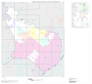 Primary view of object titled '2000 Census County Subdivison Block Map: East Jefferson CCD, Texas, Index'.