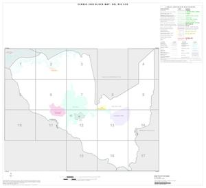 Primary view of object titled '2000 Census County Subdivison Block Map: Del Rio CCD, Texas, Index'.
