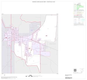 Primary view of object titled '2000 Census County Subdivison Block Map: Fairfield CCD, Texas, Inset A01'.