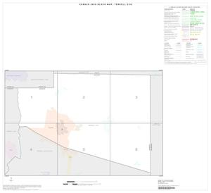 Primary view of object titled '2000 Census County Subdivison Block Map: Terrell CCD, Texas, Index'.