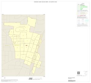 Primary view of object titled '2000 Census County Subdivison Block Map: Atlanta CCD, Texas, Inset B01'.