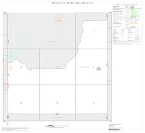 Primary view of object titled '2000 Census County Subdivison Block Map: Bellevue-Joy CCD, Texas, Index'.