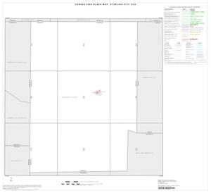 Primary view of object titled '2000 Census County Subdivison Block Map: Sterling City CCD, Texas, Index'.