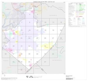 Primary view of object titled '2000 Census County Subdivison Block Map: Austin CCD, Texas, Index'.