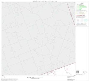 Primary view of object titled '2000 Census County Subdivison Block Map: Lexington CCD, Texas, Block 1'.