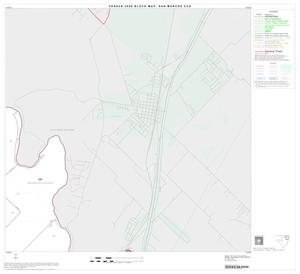 Primary view of object titled '2000 Census County Subdivison Block Map: San Marcos CCD, Texas, Block 3'.