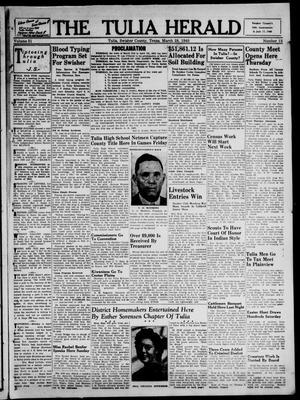 Primary view of The Tulia Herald (Tulia, Tex), Vol. 31, No. 13, Ed. 1, Thursday, March 28, 1940