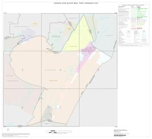 Primary view of object titled '2000 Census County Subdivison Block Map: Port Aransas CCD, Texas, Index'.