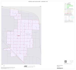Primary view of object titled '2000 Census County Subdivison Block Map: Leonard CCD, Texas, Inset B01'.