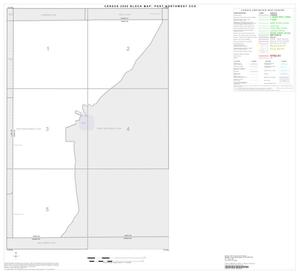 Primary view of object titled '2000 Census County Subdivison Block Map: Post Northwest CCD, Texas, Index'.