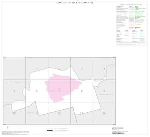 Primary view of object titled '2000 Census County Subdivison Block Map: Vernon CCD, Texas, Index'.