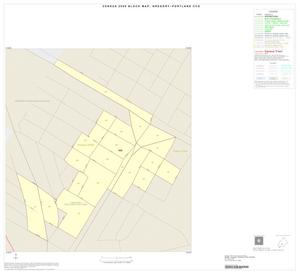 Primary view of object titled '2000 Census County Subdivison Block Map: Gregory-Portland CCD, Texas, Inset A01'.
