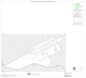 Primary view of object titled '2000 Census County Subdivison Block Map: Goliad South CCD, Texas, Inset B01'.