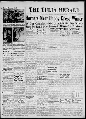 Primary view of object titled 'The Tulia Herald (Tulia, Tex), Vol. 32, No. 7, Ed. 1, Thursday, February 13, 1941'.
