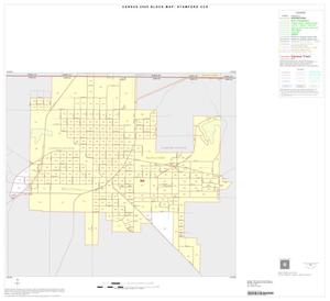 Primary view of object titled '2000 Census County Subdivison Block Map: Stamford CCD, Texas, Inset A01'.