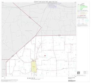 Primary view of object titled '2000 Census County Subdivison Block Map: Moulton CCD, Texas, Block 1'.