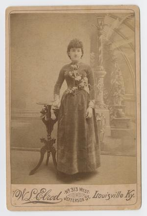 Primary view of object titled '[Photograph of a Woman in a Dark Dress]'.
