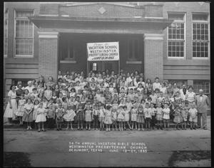 Primary view of object titled '[1955 vacation bible school class]'.
