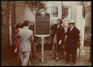 [One hundred year church marker event]