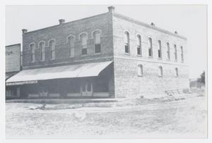 Primary view of object titled '[Brick Store in Santo, Texas]'.