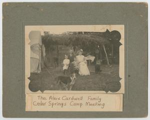 [Cardwell Family at  a Methodist Camp Meeting at Cedar Springs, Texas]