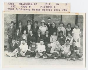 Primary view of object titled '[Grassy Ridge School 7th Grade Class]'.