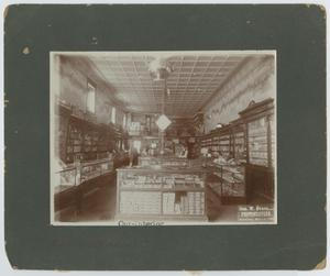 Primary view of object titled '[Interior of C. E. Turner's Pharmacy]'.