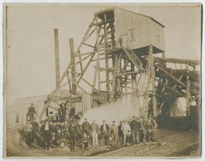 [Men Posing in Front of a Coal Mine]