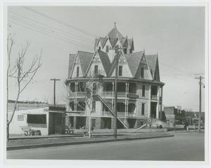 Primary view of object titled '[Photograph of the Hexagon Hotel]'.