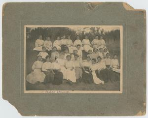 Primary view of object titled '[Women at a Cedar Springs Camp Meeting]'.