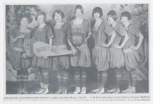 Primary view of object titled '1926 State Championship Mingus Girls Basketball Team'.