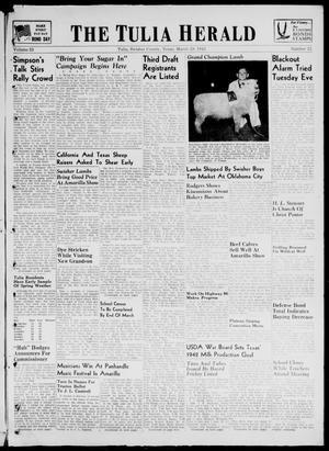 Primary view of The Tulia Herald (Tulia, Tex), Vol. 33, No. 12, Ed. 1, Thursday, March 19, 1942