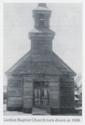 Primary view of object titled '[Gordon Baptist Church]'.