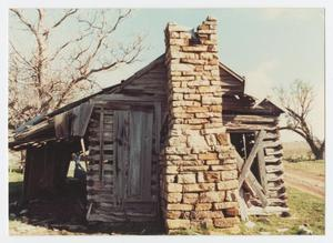 Primary view of object titled '[Joe Johnson's Log Cabin]'.