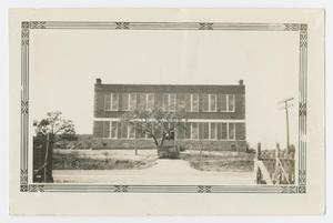 Primary view of object titled '[Front of the Palo Pinto School]'.