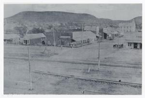 Primary view of object titled '[Gordon with Railroad Tracks]'.