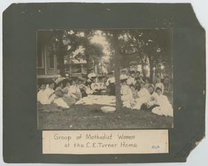 Primary view of object titled 'Group of Methodist Women at the C. E. Turner Home'.