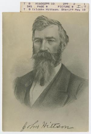 Primary view of object titled '[Sheriff John Hittson of Palo Pinto County, Texas]'.