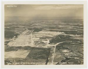 Primary view of object titled '[Aerial View of Camp Wolters, Texas]'.