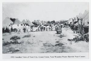 Primary view of object titled '[Tent City in Grant Town, Texas]'.