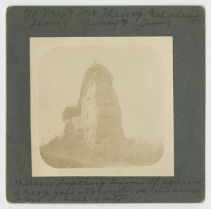 "Primary view of object titled '[Man Standing on Top of ""Hell's Gate""]'."