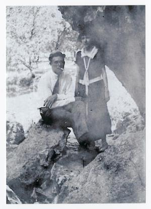 Primary view of [Boyd Campbell and a Woman at Lovers' Retreat]