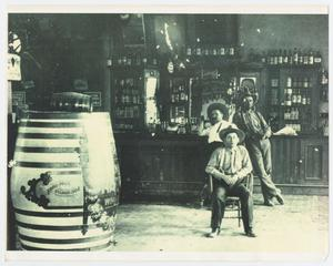 Primary view of object titled '[Three Men in a Saloon]'.
