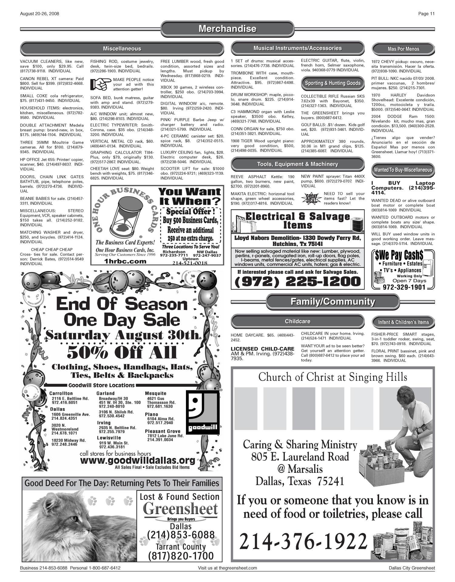 The Greensheet Dallas Tex Vol 32 No 134 Ed 1 Wednesday