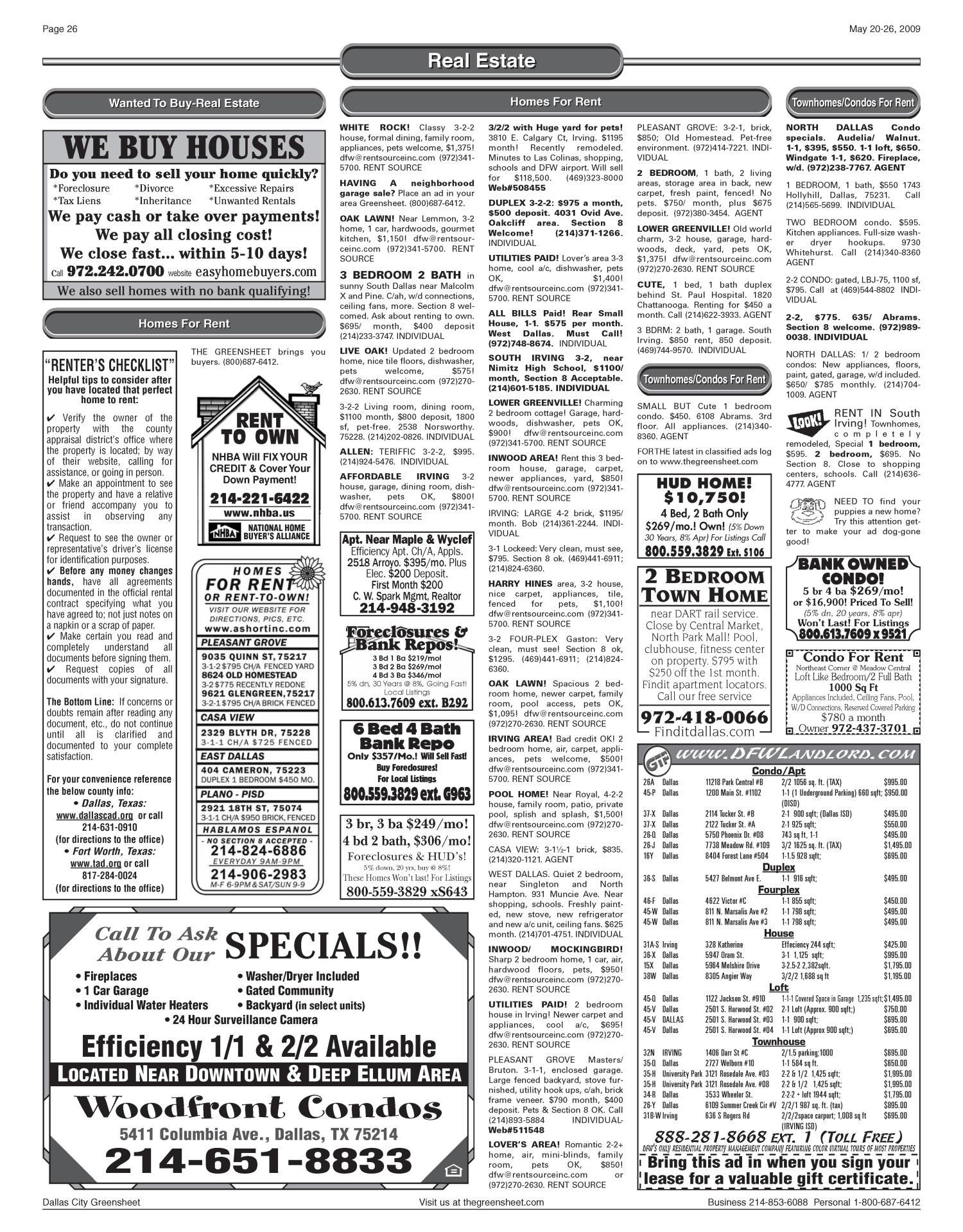 The Greensheet (Dallas, Tex ), Vol  33, No  43, Ed  1