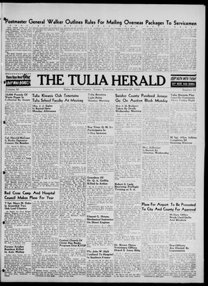 Primary view of object titled 'The Tulia Herald (Tulia, Tex), Vol. 35, No. 38, Ed. 1, Thursday, September 21, 1944'.